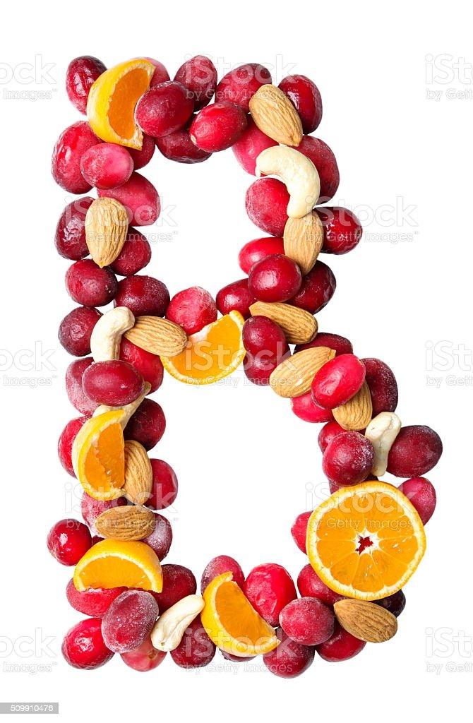 fruit letter B stock photo