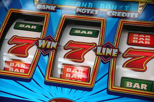 Fruit Machine Win stock photo