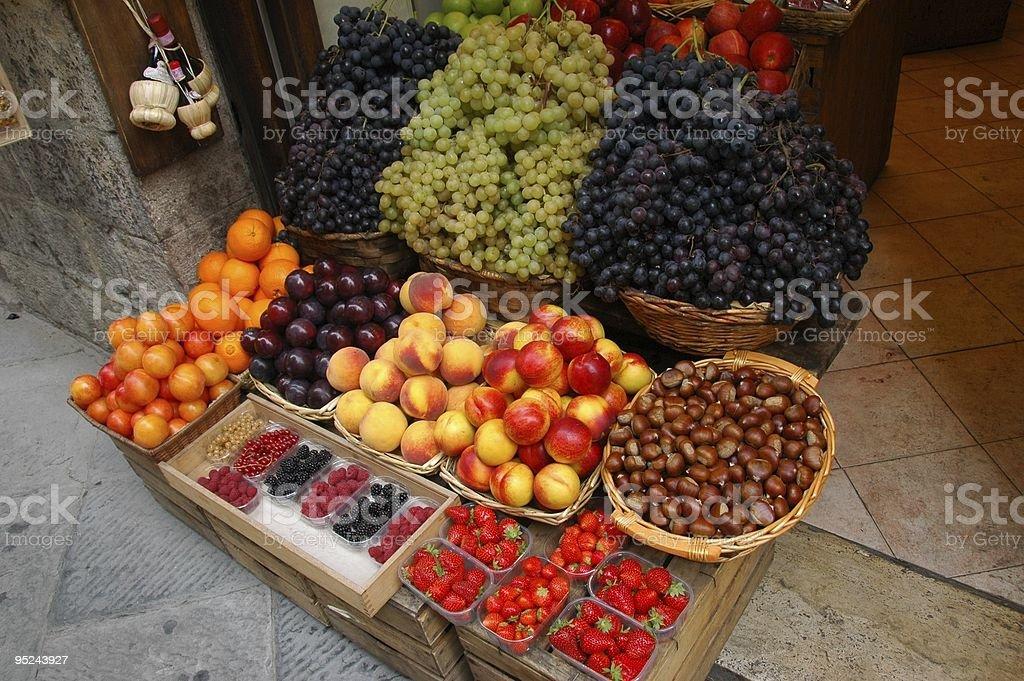 Fruit Market Display royalty-free stock photo