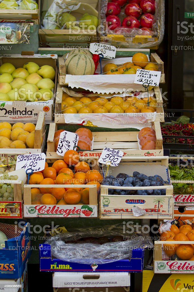 Fruit market in Milan Italy royalty-free stock photo