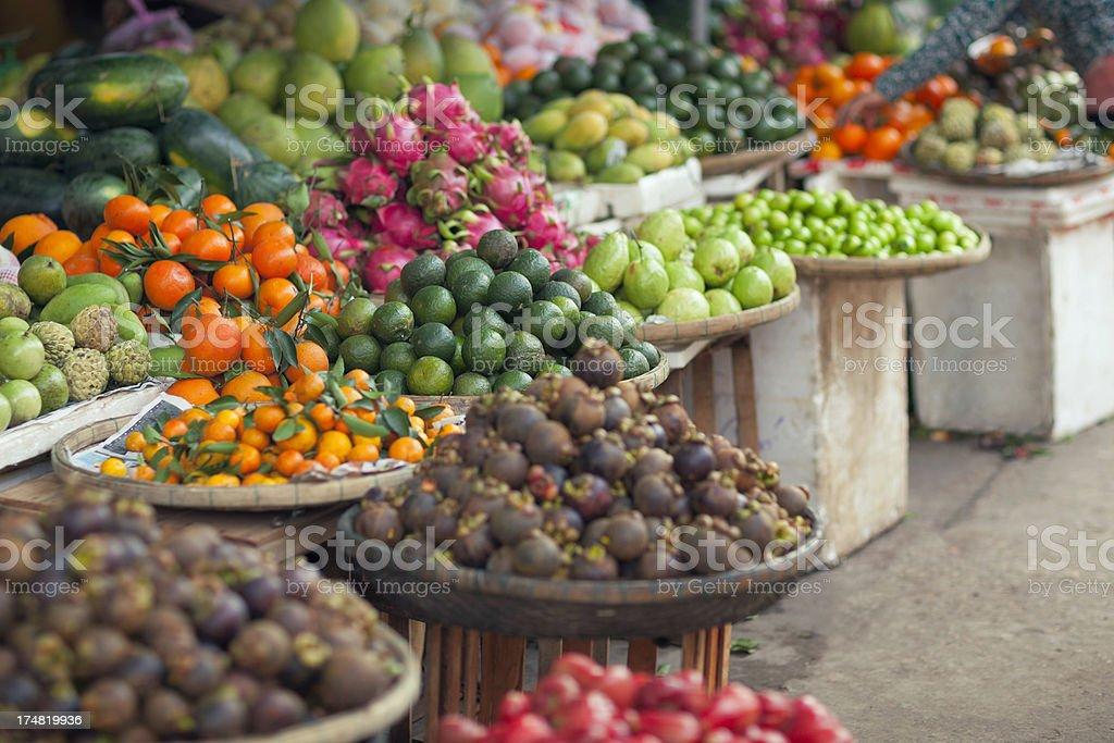 "Fruit market ""Various fresh fruit at the market in Hoi An, Vietnam."" Asia Stock Photo"