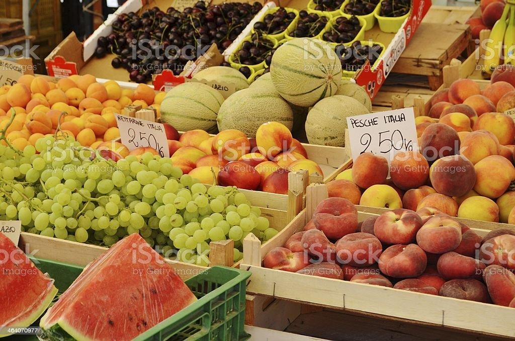fruit market stock photo