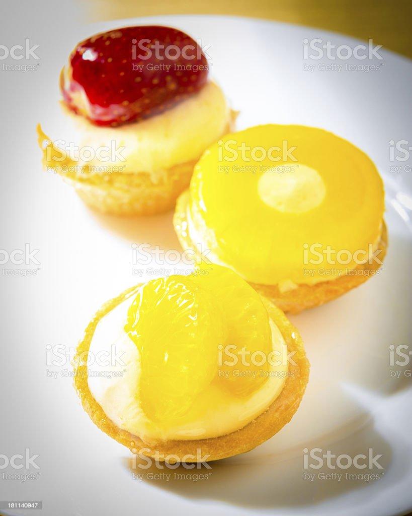 fruit mini tartes royalty-free stock photo