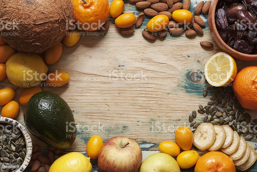 Fruit, nut and seed mix royalty-free stock photo