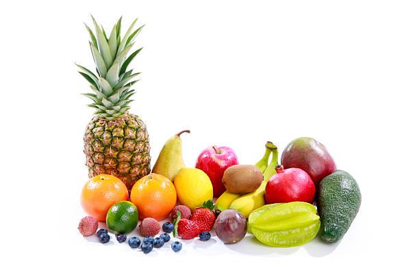 Obst auf weißem Hintergrund – Foto
