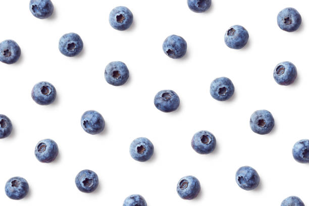 fruit pattern of blueberries - blueberry stock pictures, royalty-free photos & images