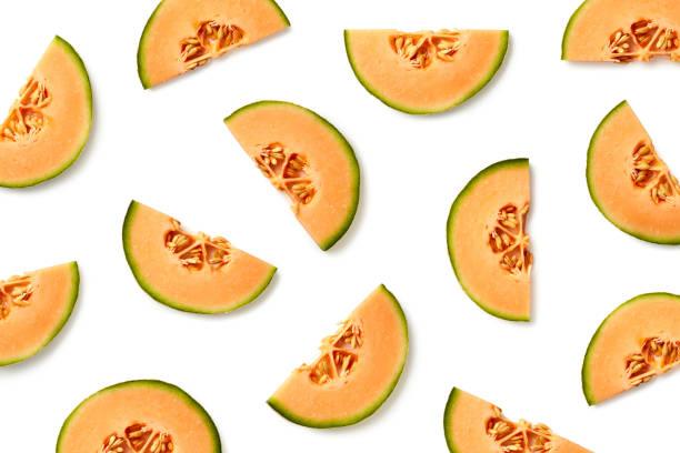 멜론 조각의 과일 패턴 - 수박 뉴스 사진 이미지