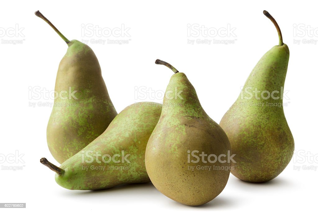 Fruit: Pears (Conferance) Isolated on White Background – Foto