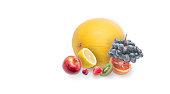 Fruit pile isolated on white background