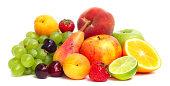 フルーツパイル白で分離
