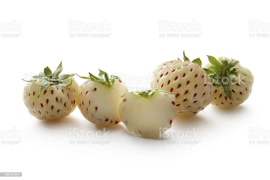 Fruit: Pineberry stock photo