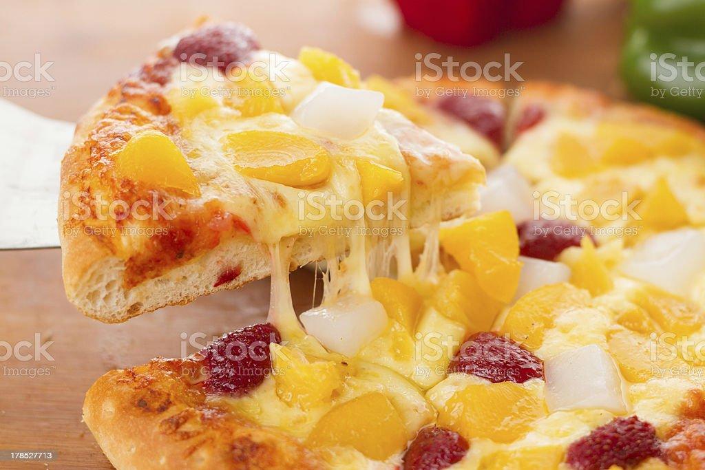 Fruit pizza royalty-free stock photo