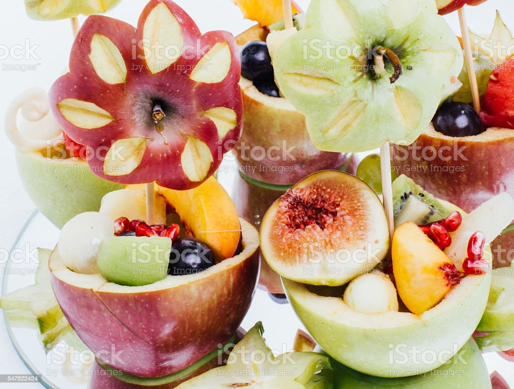 Fruit Plate Decoration Close Up Stock Photo More Pictures Of