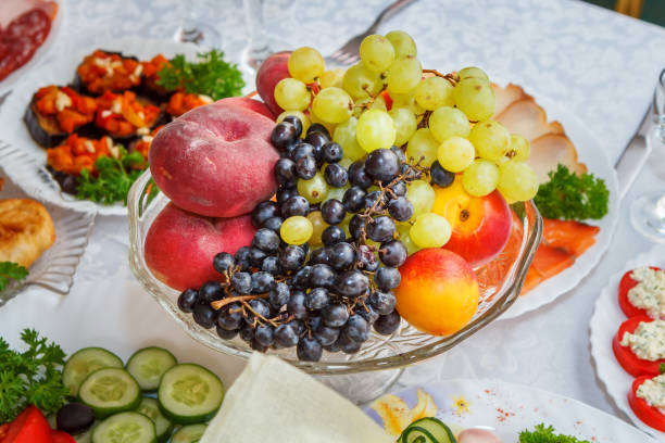 Cтоковое фото Fruit plate on the table