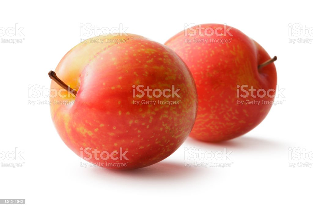 Fruit: Plums Isolated on White Background royalty-free stock photo