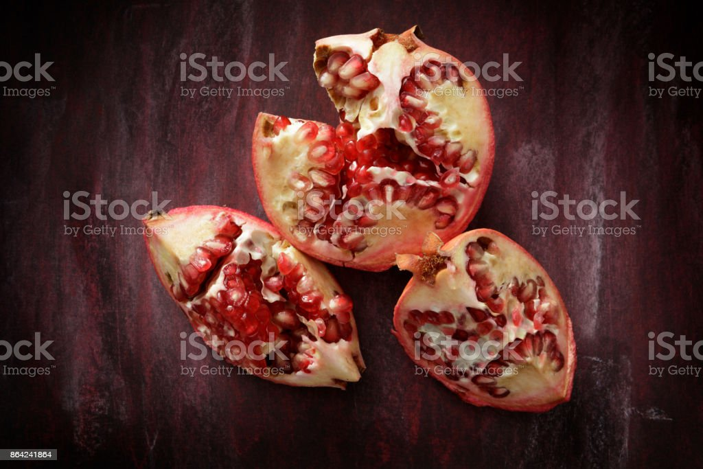 Fruit: Pomegranate Still Life royalty-free stock photo
