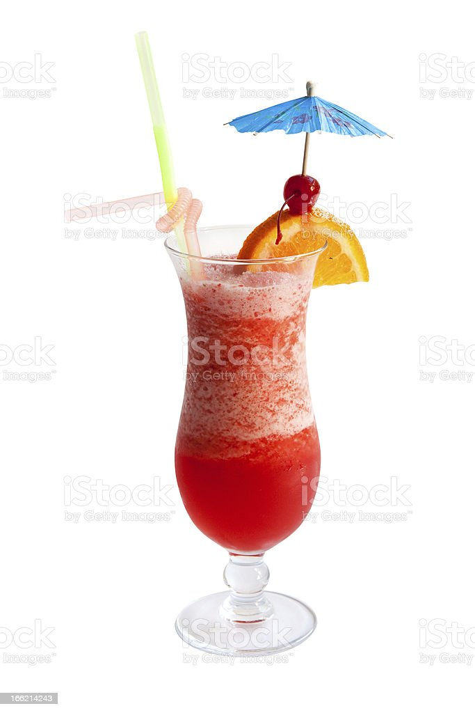 Fruit punch cocktail royalty-free stock photo