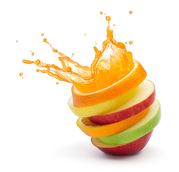 fruit punch - apple fruit stock photos and pictures