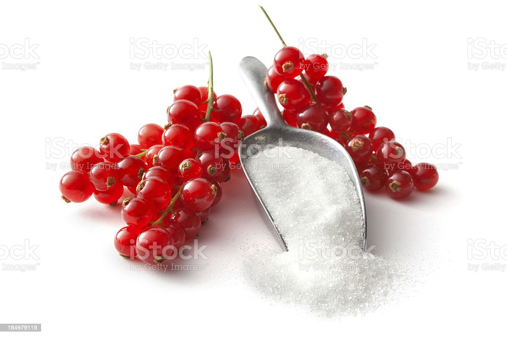 Fruit: Red Currant and Sugar royalty-free stock photo