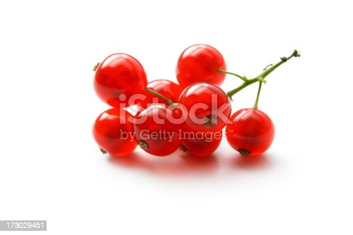 istock Fruit: Red Currant Isolated on White Background 173029451