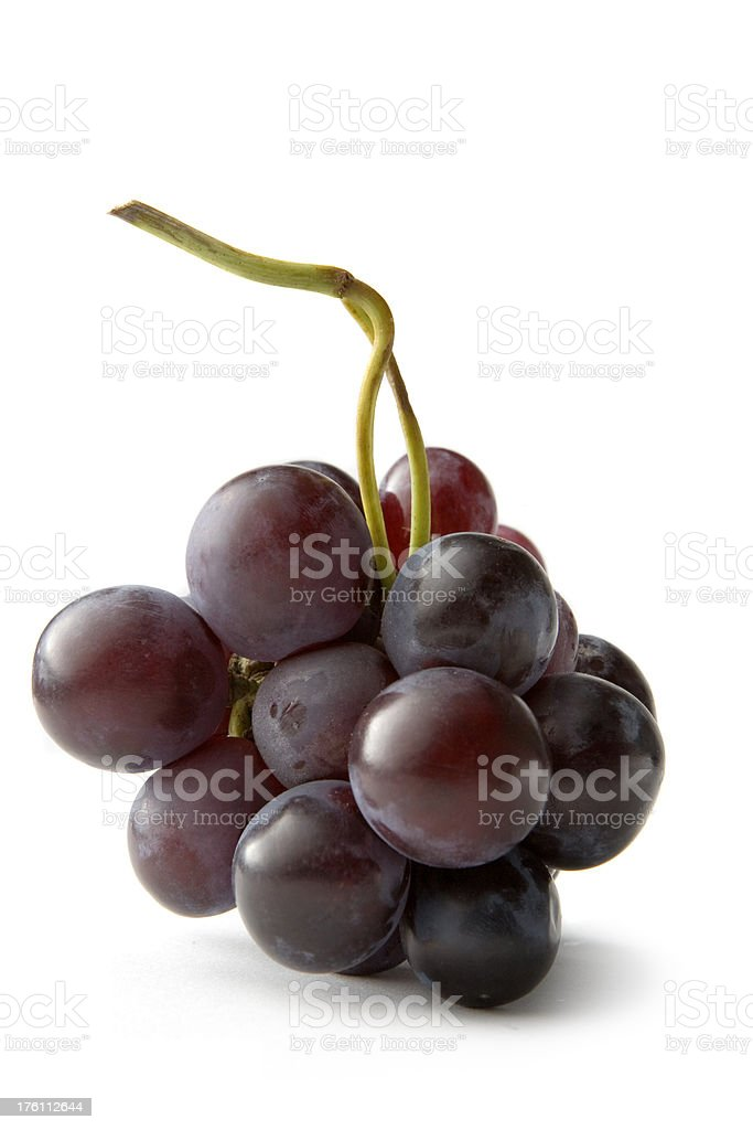 Fruit: Red Grapes royalty-free stock photo