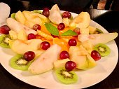Fresh and delicious dish of fruits