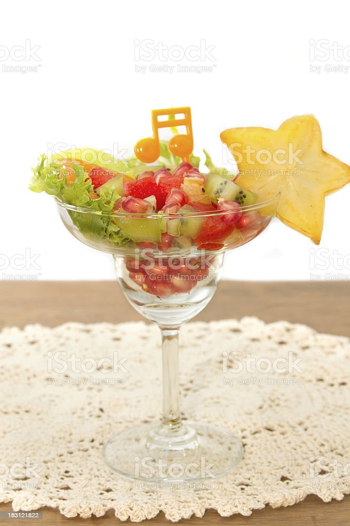 fruit salad , fusion food royalty-free stock photo