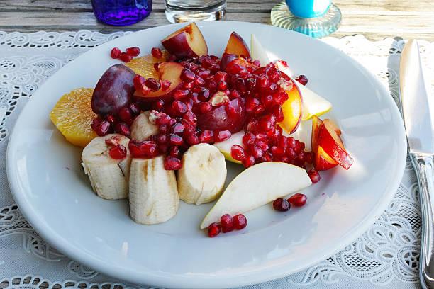 Fruit Salad Sunny Plate stock photo