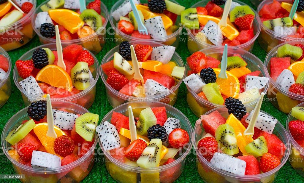 fruit salads stock photo