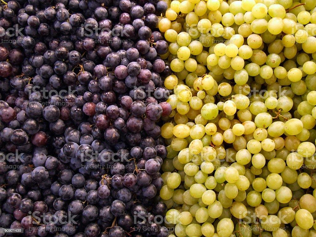 Fruit shop - grapes royalty-free stock photo