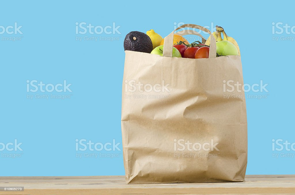 Fruit Shopping Bag stock photo
