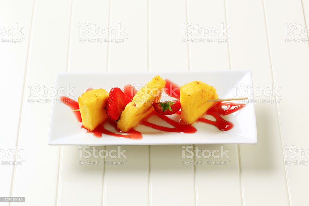Fruit skewer royalty-free stock photo