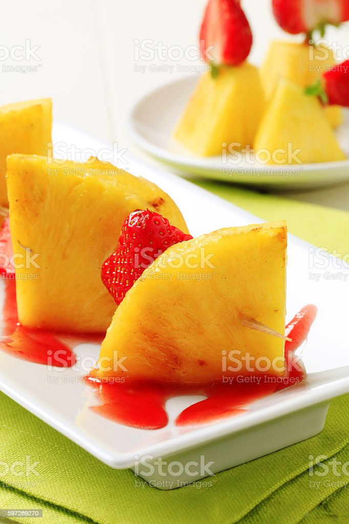 Obst-Bratspieß  Lizenzfreies stock-foto