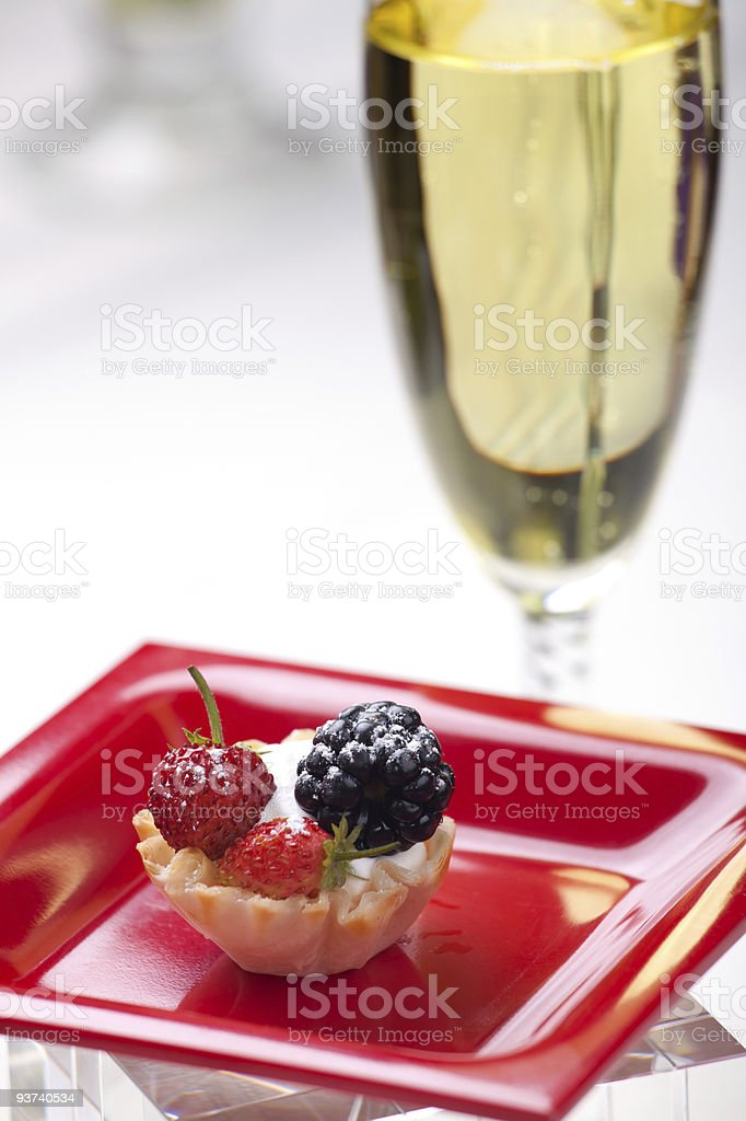 Fruit petite cake royalty-free stock photo