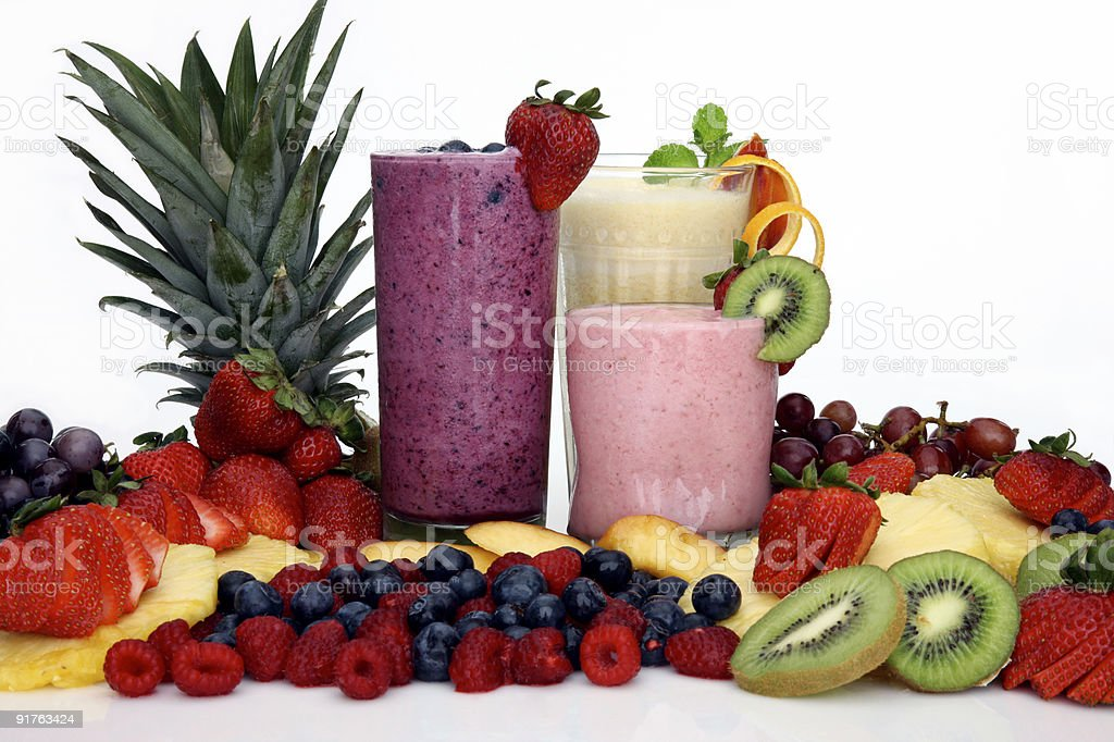 Fruit smoothie or daiquiris royalty-free stock photo