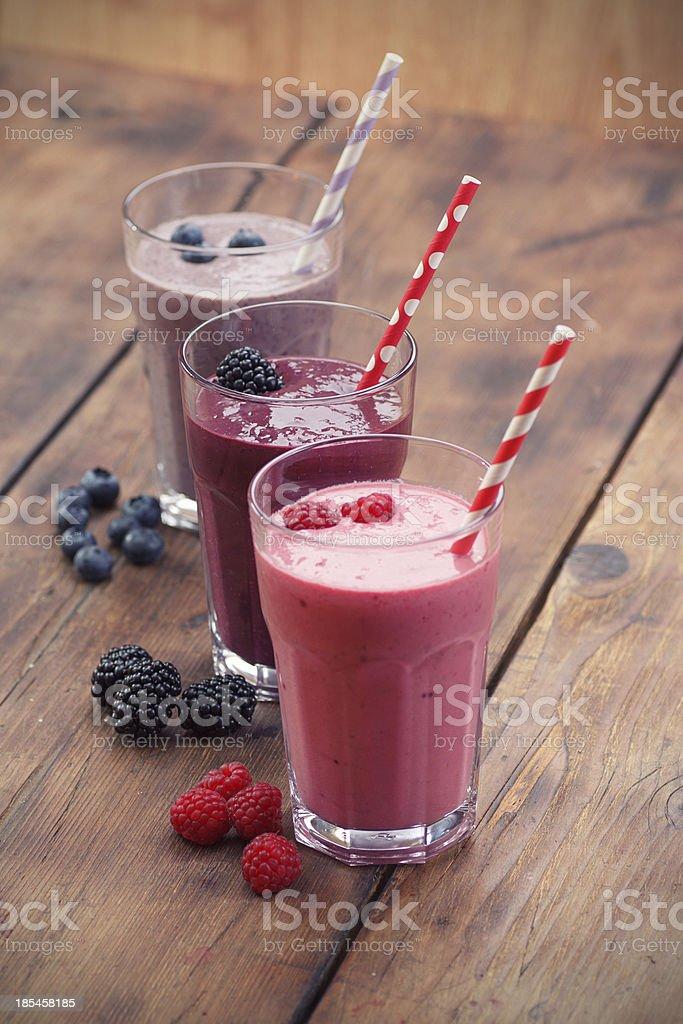 Batidos de frutas foto de stock libre de derechos