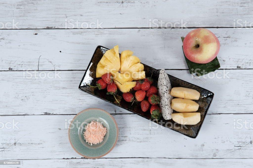 fruit snack stock photo