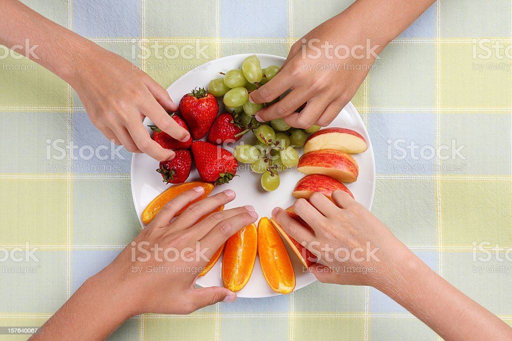 Fruit Snack Plate stock photo