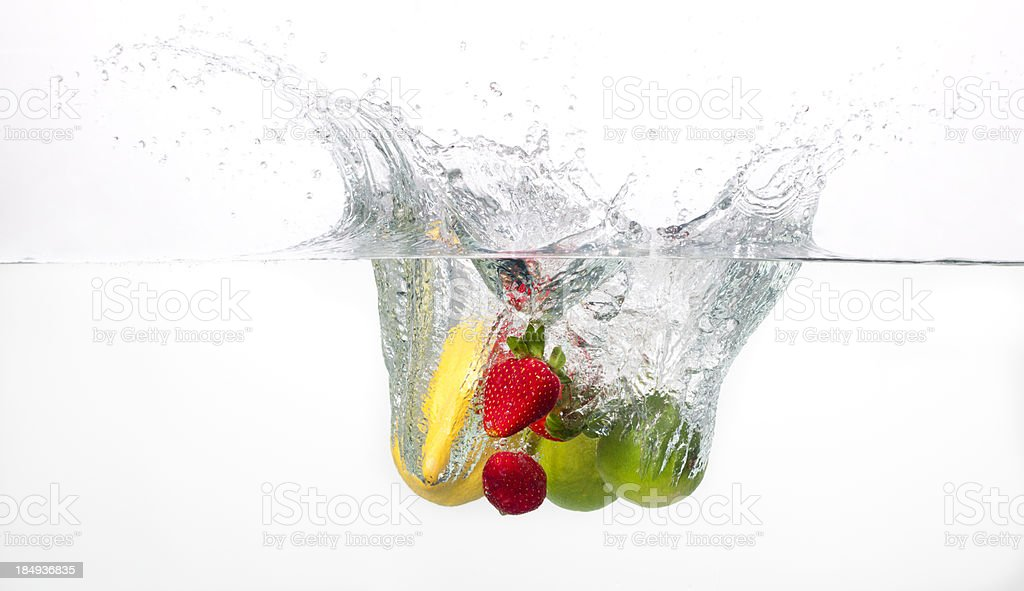Fruits splasing into waterMore like this