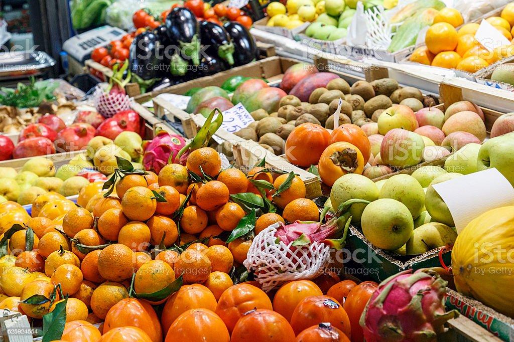 Fruit Stall stock photo