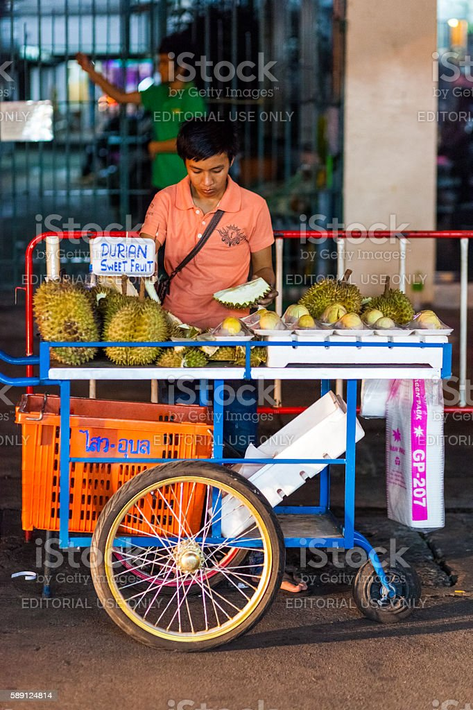 Fruit Stand in Khao San Road stock photo