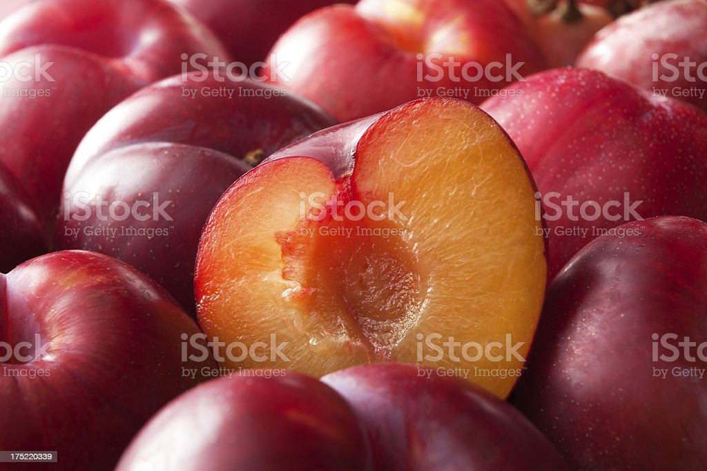 Fruit Stills: Plums stock photo