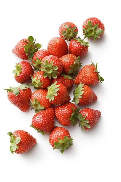 Fruit: Strawberries Isolated on White Background foto