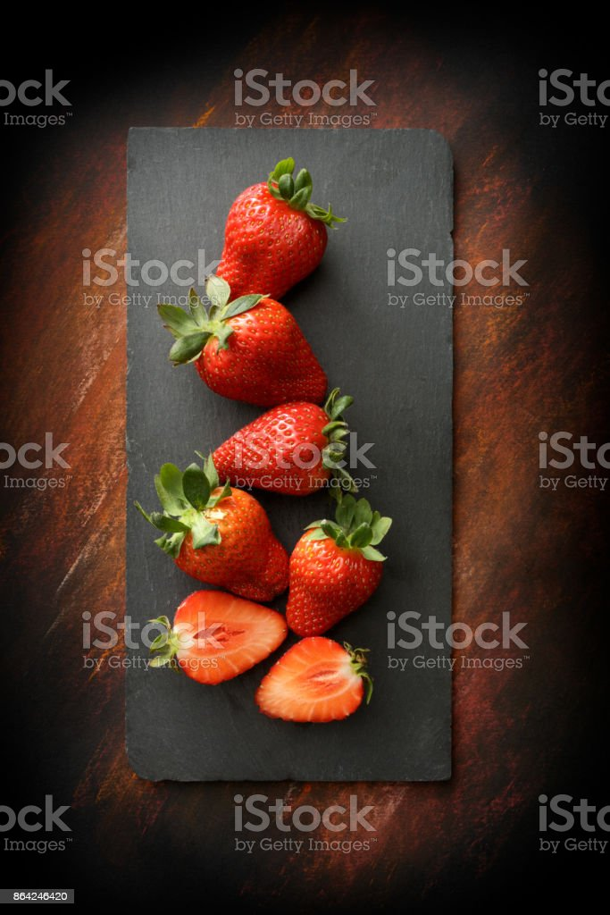 Fruit: Strawberries Still Life royalty-free stock photo