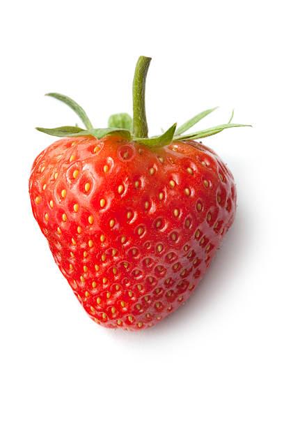 fruit: strawberry isolated on white background - 士多啤梨 個照片及圖片檔