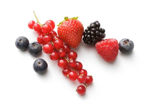 Fruits frais : Fraise, framboise, myrtille, BlackBerry et rouge Groseille - Photo
