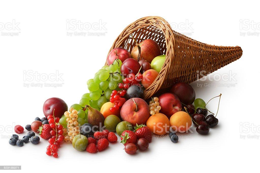 Fruit: Summer Fruit Curnucopia stock photo