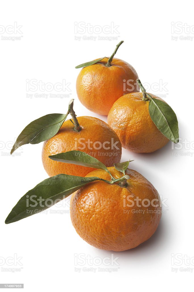 Fruit: Tangerine Isolated on White Background royalty-free stock photo