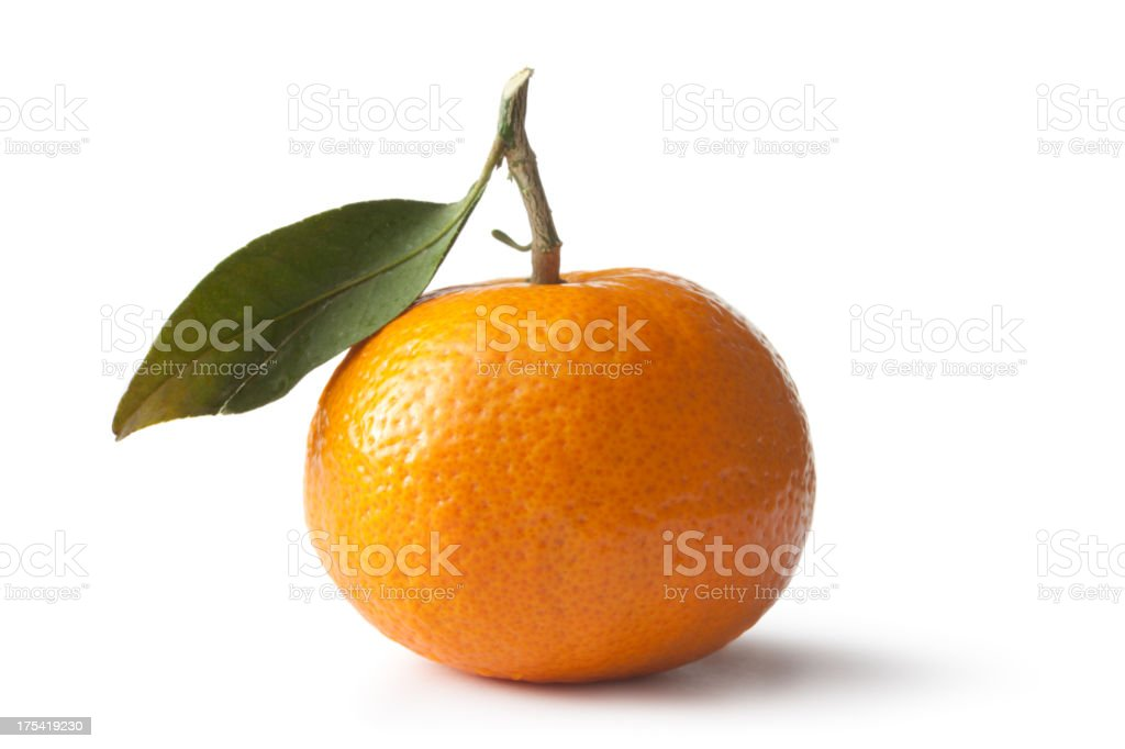 Fruit: Tangerine Isolated on White Background stock photo