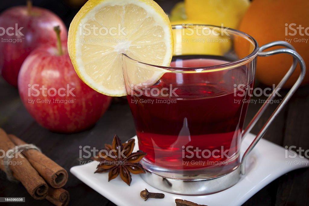 Fruit tea stock photo